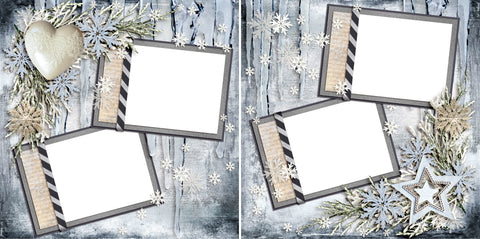 Beauty of Winter - Digital Scrapbook Pages - INSTANT DOWNLOAD
