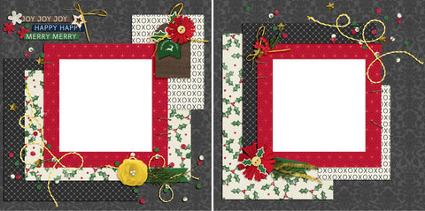 Joy Joy Joy - Digital Scrapbook Pages - INSTANT DOWNLOAD - 2019