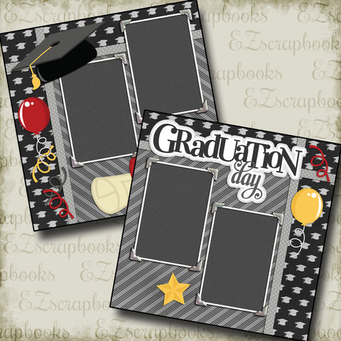 Graduation Day - 2133 - EZscrapbooks Scrapbook Layouts School