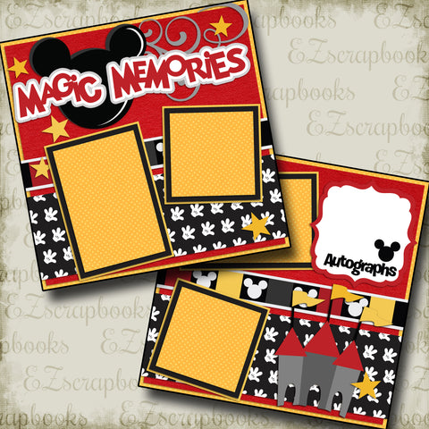 Premade Scrapbook Pages This Magical Moment RED EZ Layout 2233
