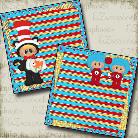 Cat in Hat NPM - 2286 - EZscrapbooks Scrapbook Layouts Baby - Toddler, Vacation