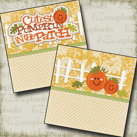 Cutest Pumpkin in the Patch NPM - 2299 - EZscrapbooks Scrapbook Layouts Fall - Autumn