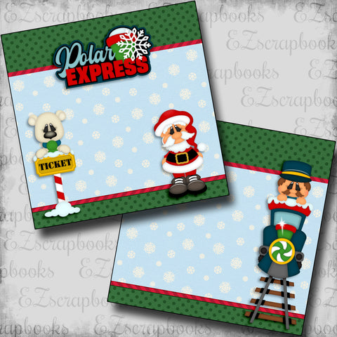 Polar Express NPM - 5375 - EZscrapbooks Scrapbook Layouts Christmas
