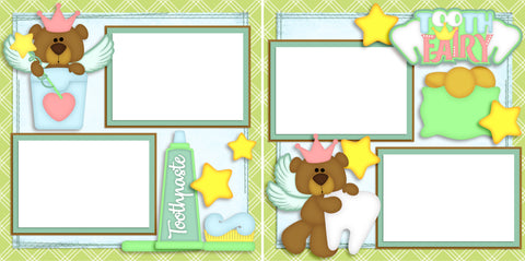 Tooth Fairy - Digital Scrapbook Pages - INSTANT DOWNLOAD
