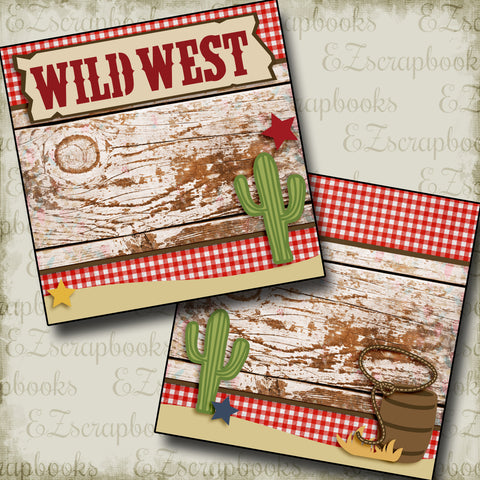 Wild West NPM - 2551 - EZscrapbooks Scrapbook Layouts Western - Cowboy