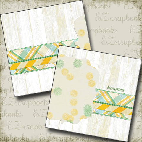 Summer NPM - 4899 - EZscrapbooks Scrapbook Layouts Beach - Tropical, Summer, Swimming - Pool