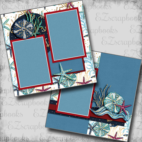 Nautical Starfish - 5456 - EZscrapbooks Scrapbook Layouts Beach - Tropical, cruise, Nautical, Swimming - Pool