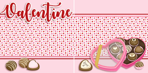 Valentine Candy NPM - 2699 - EZscrapbooks Scrapbook Layouts Love - Valentine