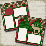Maroon Christmas - 2747 - EZscrapbooks Scrapbook Layouts Camping - Hiking, Christmas, Hunting - Fishing