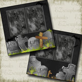 Tombstones - 2767 - EZscrapbooks Scrapbook Layouts Halloween