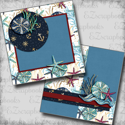 Nautical Starfish NPM - 5457 - EZscrapbooks Scrapbook Layouts Beach - Tropical, cruise, Nautical, Swimming - Pool