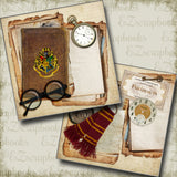 Wizard Journal NPM - 5205 - EZscrapbooks Scrapbook Layouts Halloween, Harry Potter, wizard