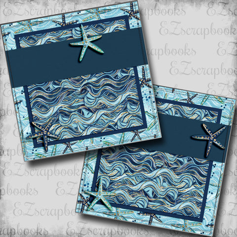 Nautical Waves NPM - 5459 - EZscrapbooks Scrapbook Layouts Beach - Tropical, cruise, Nautical, Swimming - Pool