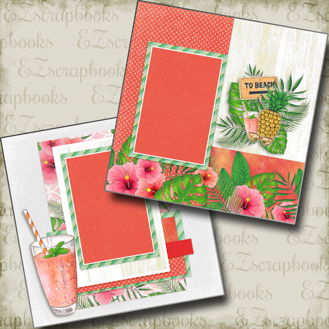 To Beach - 4902 - EZscrapbooks Scrapbook Layouts Beach - Tropical, Swimming - Pool