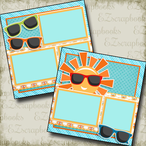 Sunglasses - 3222 - EZscrapbooks Scrapbook Layouts Summer, Swimming - Pool