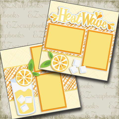Heat Wave Lemons - 3376 - EZscrapbooks Scrapbook Layouts Foods, Summer