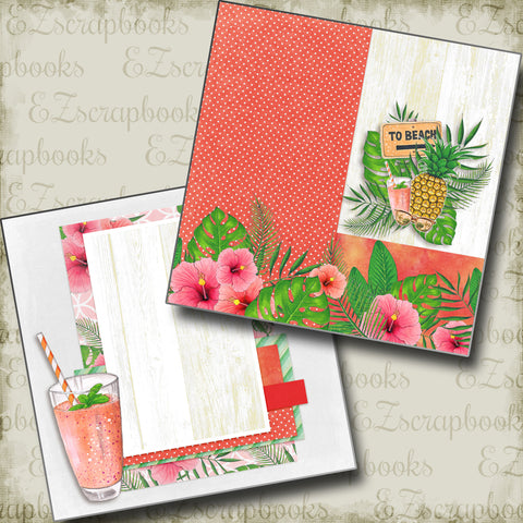 To Beach NPM - 4903 - EZscrapbooks Scrapbook Layouts Beach - Tropical, Swimming - Pool