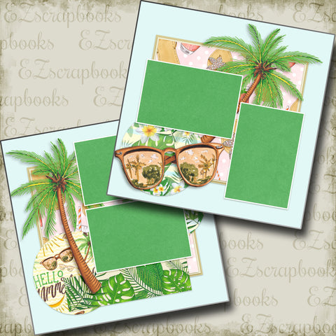 Beach Vibes - 4904 - EZscrapbooks Scrapbook Layouts Beach - Tropical, Swimming - Pool
