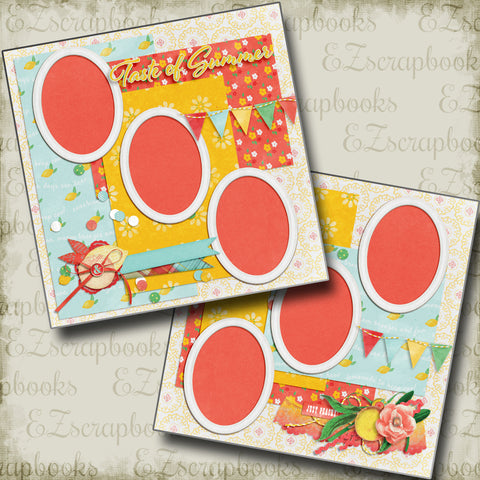 Taste of Summer - 4924 - EZscrapbooks Scrapbook Layouts Summer