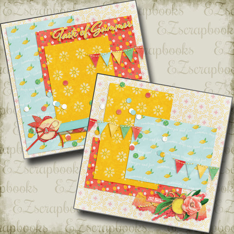 Taste of Summer NPM - 4925 - EZscrapbooks Scrapbook Layouts Summer