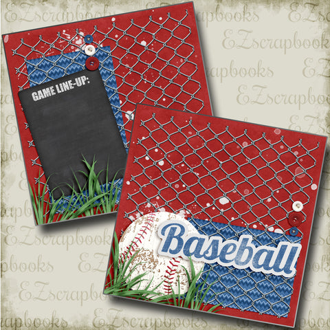 Baseball Line-Up NPM - 4507 - EZscrapbooks Scrapbook Layouts baseball, Sports