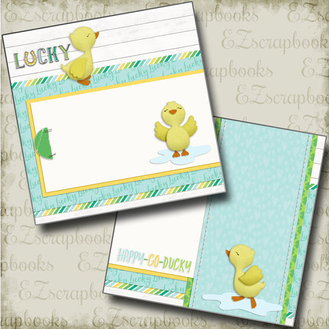 Happy Go Ducky NPM - 4737 - EZscrapbooks Scrapbook Layouts Baby, St Patrick's Day, Swimming - Pool