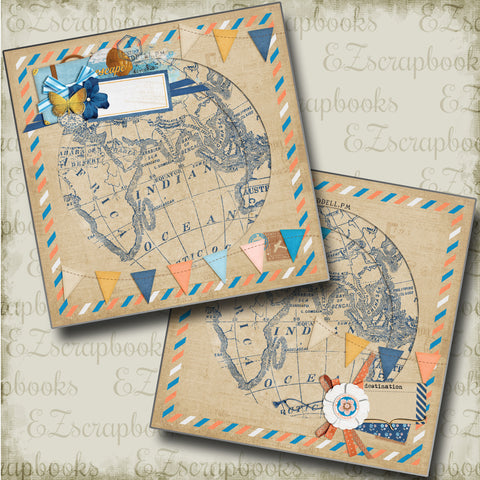 Around the World NPM - 4723 - EZscrapbooks Scrapbook Layouts travel, Vacation