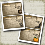 Halloween Recipe Cards - 7223 - EZscrapbooks Scrapbook Layouts Halloween