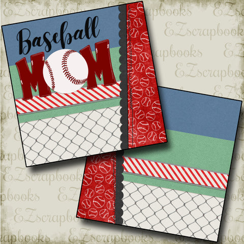 Baseball Mom NPM - 4817 - EZscrapbooks Scrapbook Layouts baseball, Sports
