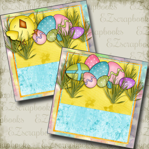 Easter Joy NPM - 3885 - EZscrapbooks Scrapbook Layouts Spring - Easter