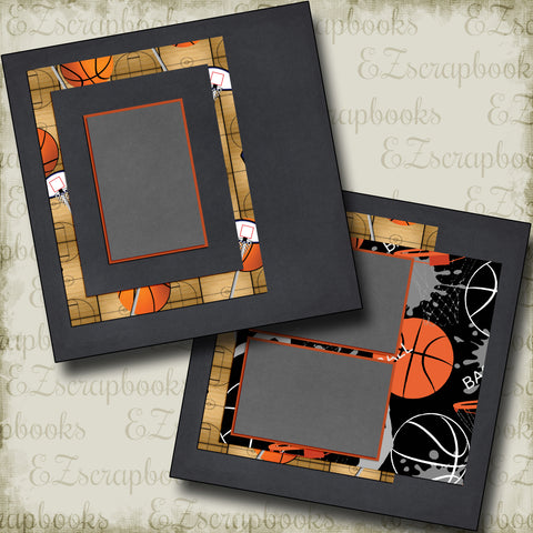 B-Ball Life - 5264 - EZscrapbooks Scrapbook Layouts basketball, Sports
