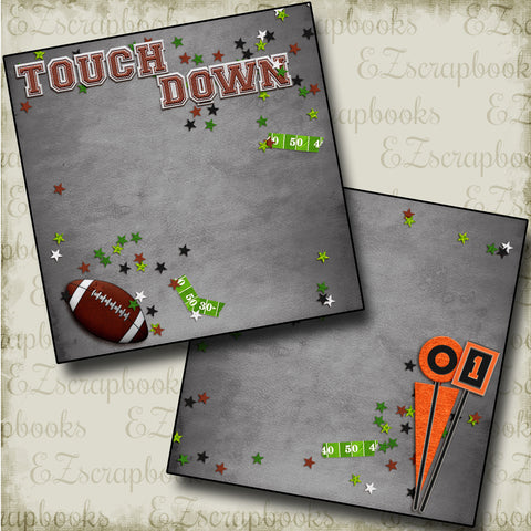 Touch Down NPM - 4487 - EZscrapbooks Scrapbook Layouts football, Sports