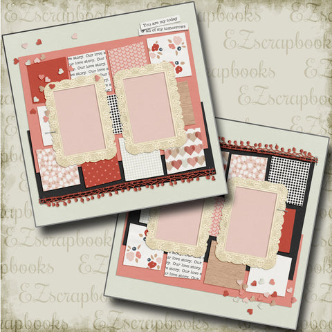 Today & Tomorrows - 4686 - EZscrapbooks Scrapbook Layouts Love - Valentine, Other