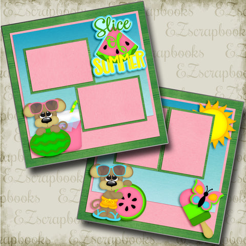 Slice of Summer - 4766 - EZscrapbooks Scrapbook Layouts Summer
