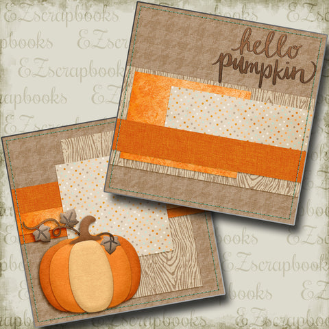 Hello Pumpkin NPM - 4375 - EZscrapbooks Scrapbook Layouts Fall - Autumn, Halloween