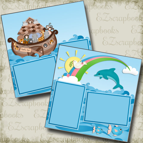Noah's Ark - 4882 - EZscrapbooks Scrapbook Layouts Beach - Tropical, Faith - Religious, Swimming - Pool