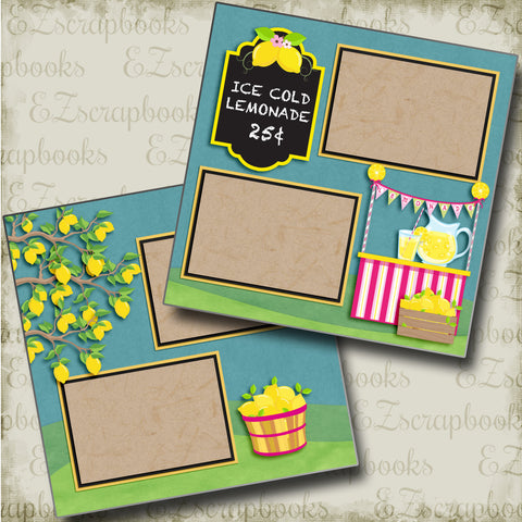 Ice Cold Lemonade - 4864 - EZscrapbooks Scrapbook Layouts Summer