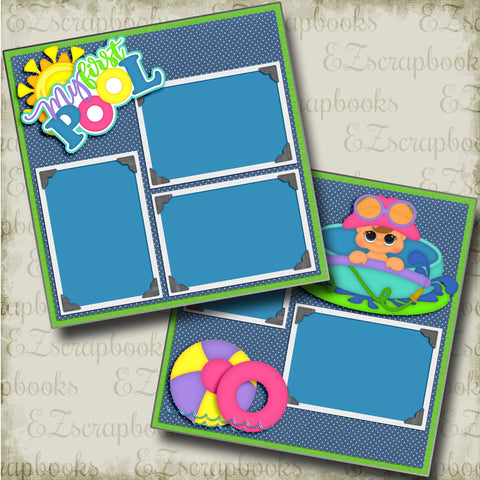 My First Pool - 4610 - EZscrapbooks Scrapbook Layouts Baby - Toddler, Swimming - Pool