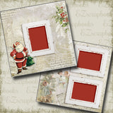 Vintage Santa - 5172 - EZscrapbooks Scrapbook Layouts Christmas, Snow, Winter