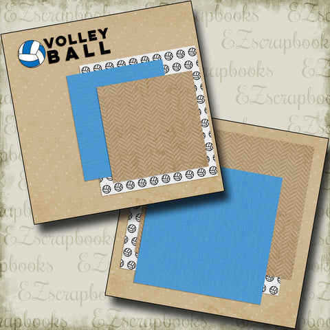 Volley Ball NPM - 5139 - EZscrapbooks Scrapbook Layouts Sports, Volleyball
