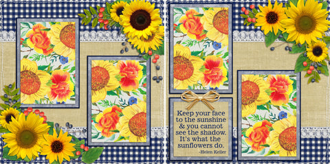 Sunflowers - 108 - EZscrapbooks Scrapbook Layouts Farm - Garden, Summer, Swimming - Pool