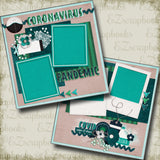 Corona Virus - 5216 - EZscrapbooks Scrapbook Layouts covid, Quarantine-Corona