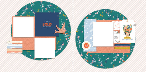 Be Bold - Digital Scrapbook Pages - INSTANT DOWNLOAD