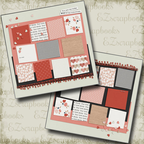 Today & Tomorrows NPM - 4687 - EZscrapbooks Scrapbook Layouts Love - Valentine, Other