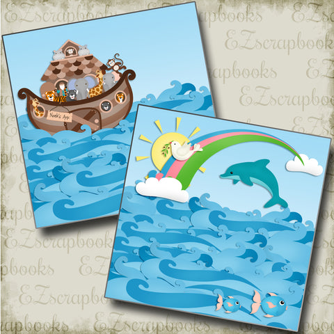 Noah's Ark NPM - 4883 - EZscrapbooks Scrapbook Layouts Beach - Tropical, Faith - Religious, Swimming - Pool
