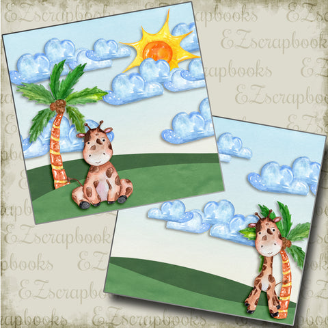 Summer Cutie NPM - 4863 - EZscrapbooks Scrapbook Layouts Beach - Tropical, Swimming - Pool