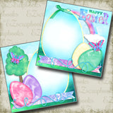 Happy Easter - Eggs NPM - 3899 - EZscrapbooks Scrapbook Layouts Spring - Easter