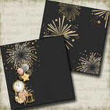 New Years Fireworks NPM - 5221 - EZscrapbooks Scrapbook Layouts Birthday, New Year's, Other