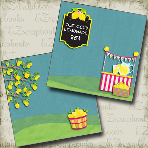 Ice Cold Lemonade NPM - 4865 - EZscrapbooks Scrapbook Layouts Summer