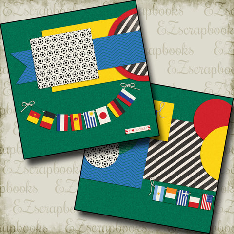 Soccer Flags NPM - 5137 - EZscrapbooks Scrapbook Layouts soccer, Sports
